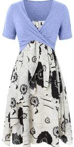 NWT White & Black Floral Dress
